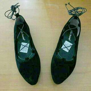 Ballerina Flat Shoes In Black