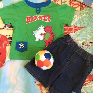 Barney Terno Top And Shorts