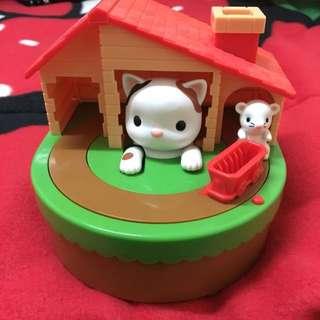 創意貓咪捉老鼠存錢筒