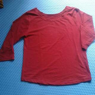 crop top red preloved