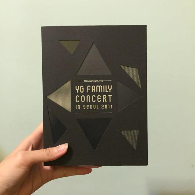 2011 YG Family演唱會首爾場 3DVD+200頁寫真