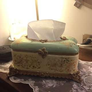 !現貨!陶瓷彩繪燙金面紙盒