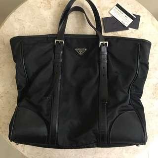 Prada Original Nylon Saffiano Large Tote Bag