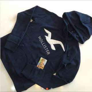 🌸 Hollister 海鷗 電繡 刺繡刷毛帽T
