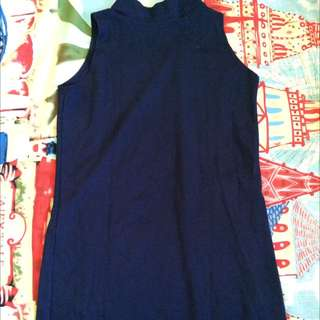 Dark Blue Turtle Neck Dress