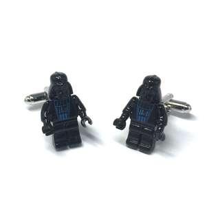 Star Wars Metal Lego Figurine Darth Vadar Cufflinks