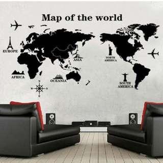 世界地圖-環球奇景時尚壁貼(不含運費