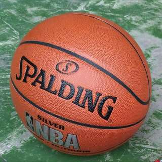 Bnew Spalding Basketball Silver