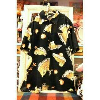 日本購入 海獺雪紡襯衫