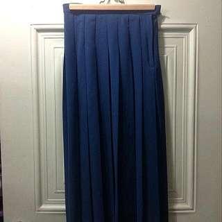 2143 土耳其藍百褶裙 (S)