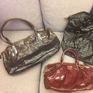 Prada + YSL + Coach patten leather bags 漆皮袋