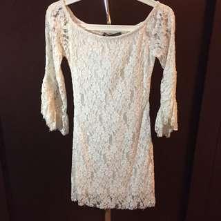Brokat Dress White