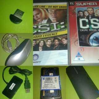 Computers/parts/accessories/ games: All items for 500php