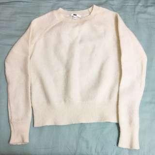 Uniqlo白色羊毛針織衫(S)