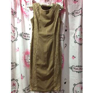 Doublewoot Brown Lace Dress