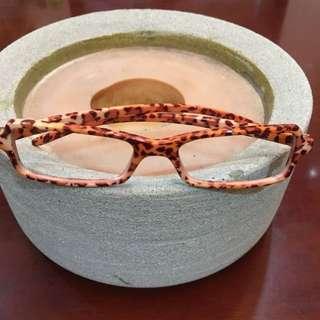 豹紋膠框眼鏡 女