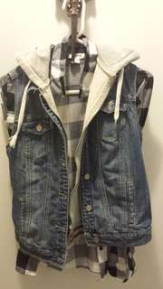 Jean and Cotton Hooded Vest from Garage