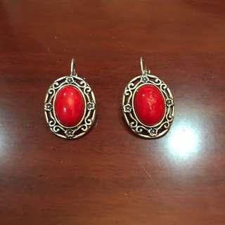 土耳其紅 耳環