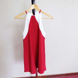 Free Size Red Dress . Cocok Untuk CNY