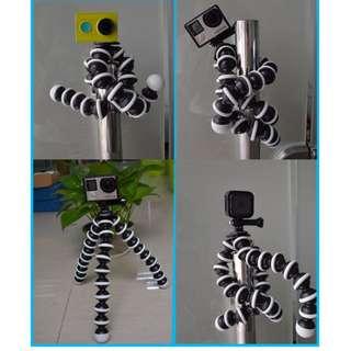 K-601 賣場款式齊全 相機腳架 大章魚腳架 手電筒 萬向支架 萬向接頭 支架 腳架 攝影機 雲台 手機夾 自拍神器