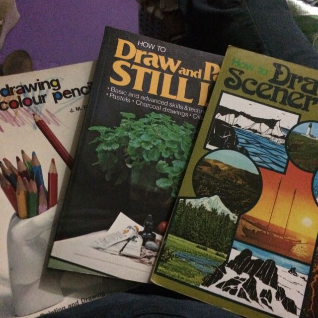 3 drawing Books
