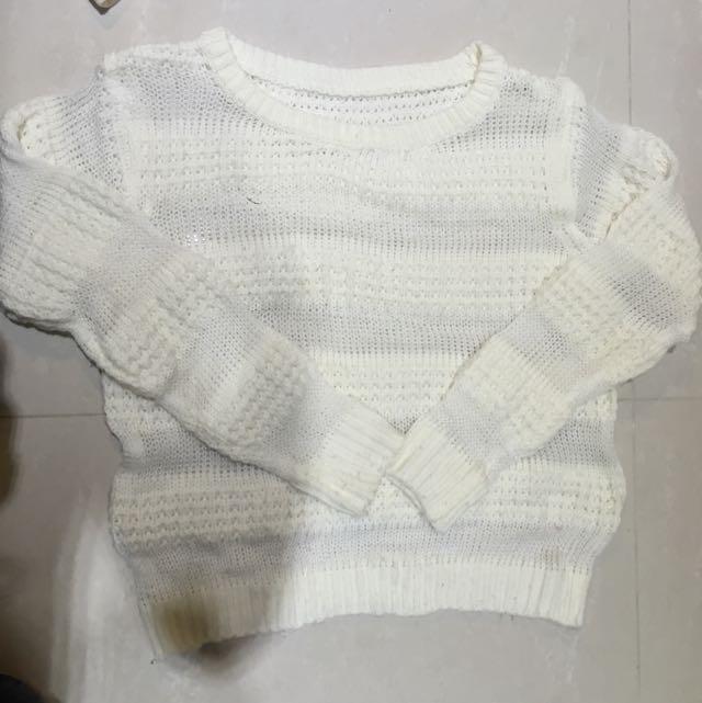 網拍購入白毛衣