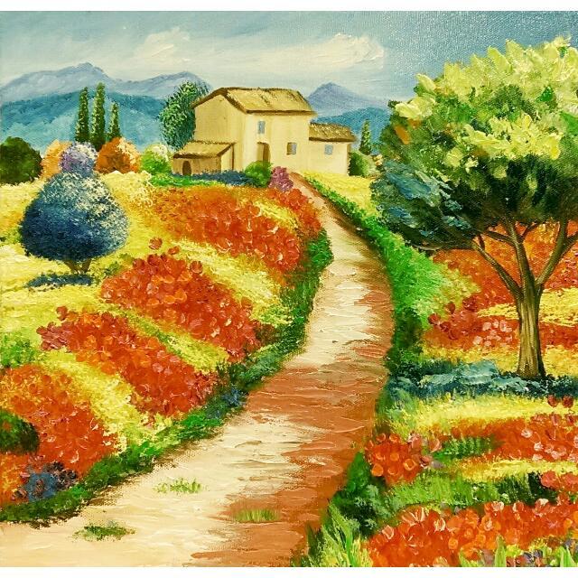 鄉村(油畫)