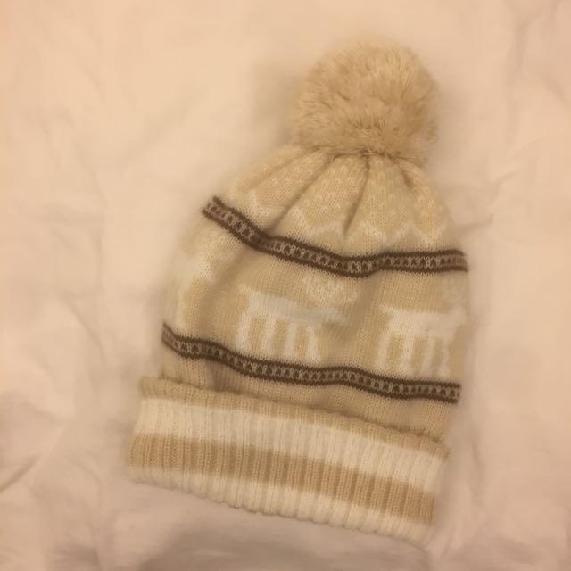 米色麋鹿毛帽