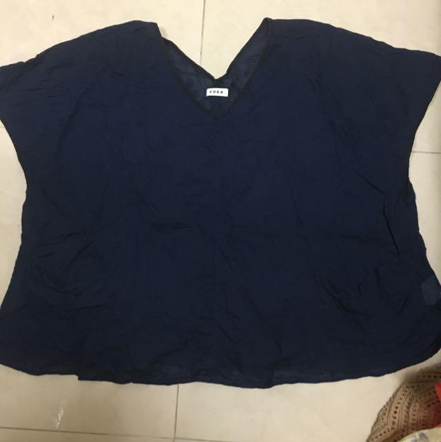 日本帶回縫線設計寬鬆上衣