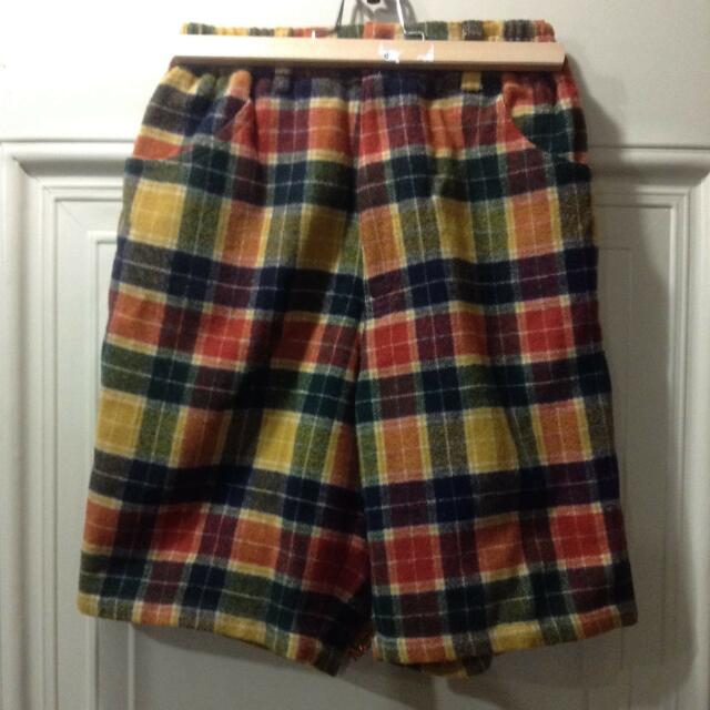童裝質感超好毛呢五分褲 (155-160cm)