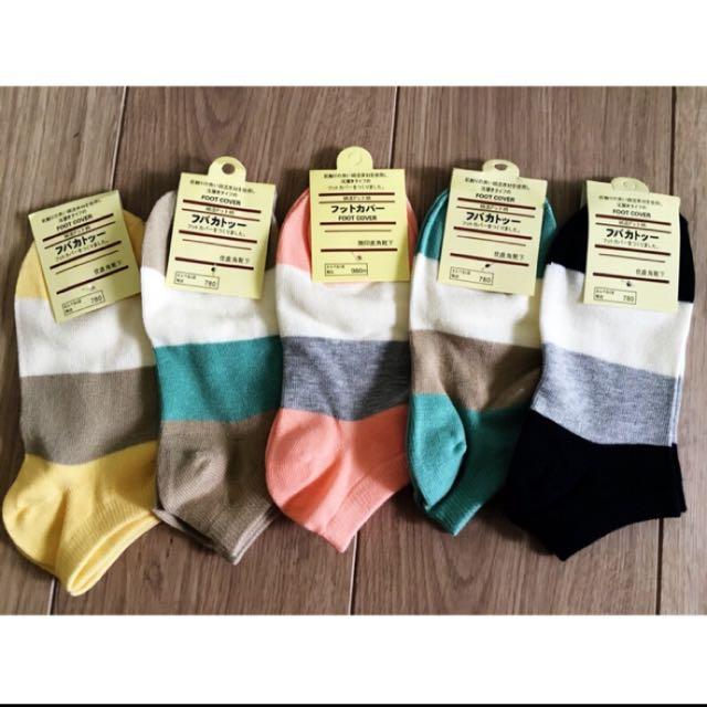 女生 三色可愛短襪 五色一組出貨