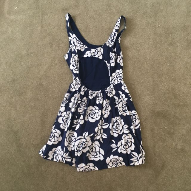 Abercrombie And Fitch Floral Dress With Open Back
