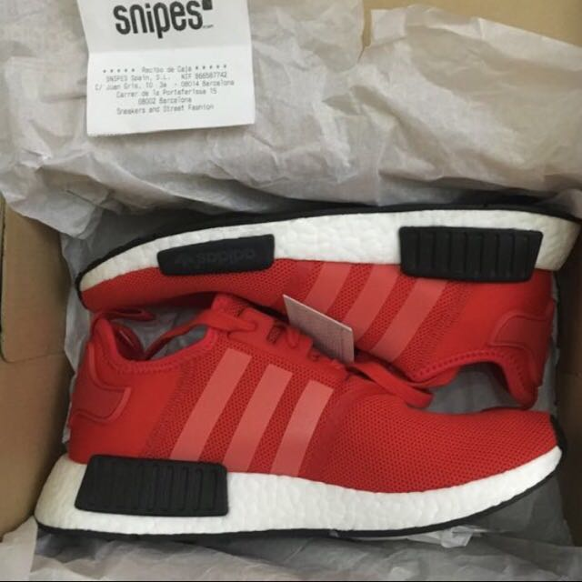 size 40 46e14 4e334 Adidas NMD R1 Red Black US 9, Men's Fashion, Footwear on ...