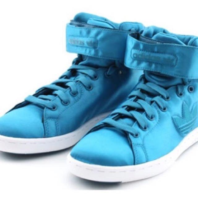 Adidas Stan Smith Trefoil - Mid - Native Blue Satin