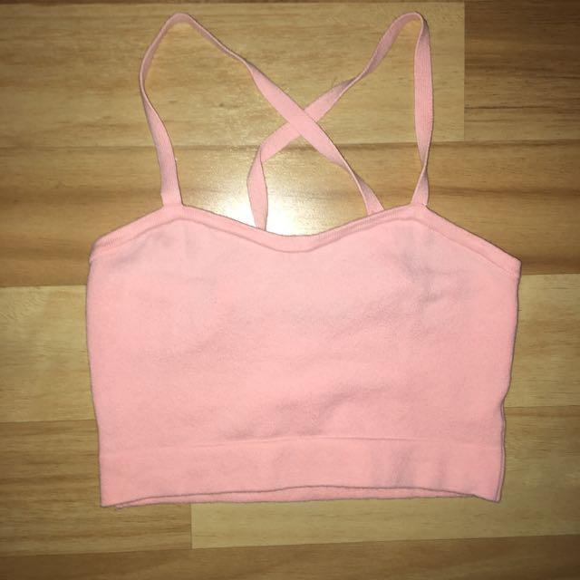American Apparel Peach/Pink Crop Top