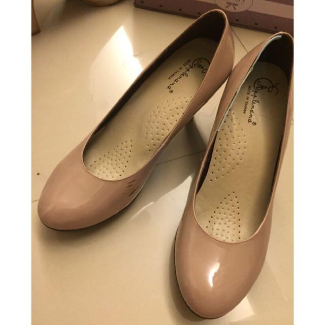 Applenana裸色氣墊高跟鞋
