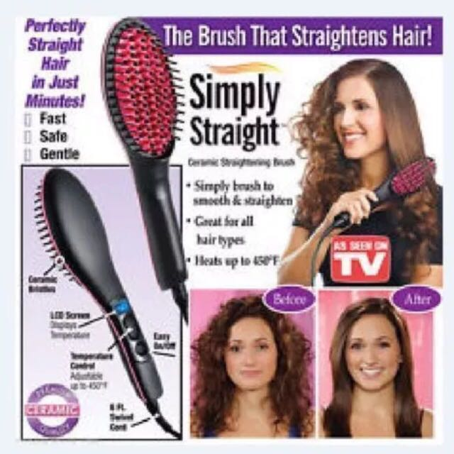AS SEEN ON TV ELECTRIC HAIR STRAIGHTER BRUSH LCD