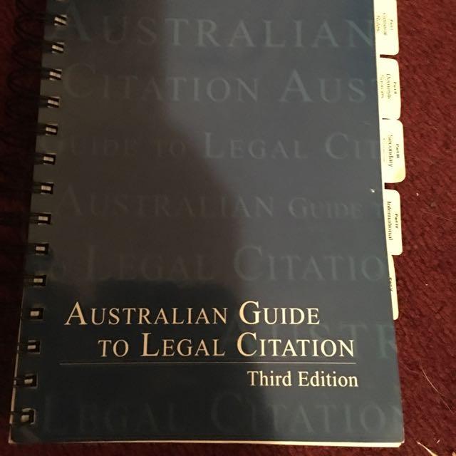 Australian Guide To Legal Citation