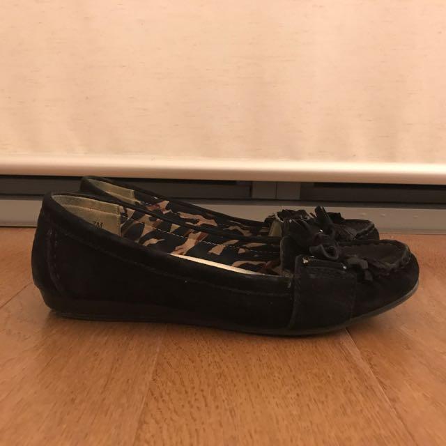Black Anne Klein Suede Loafers