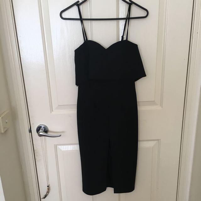 Black Midi Dress Size 6