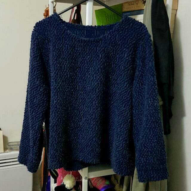 Blue Sweater Jumper Sz S
