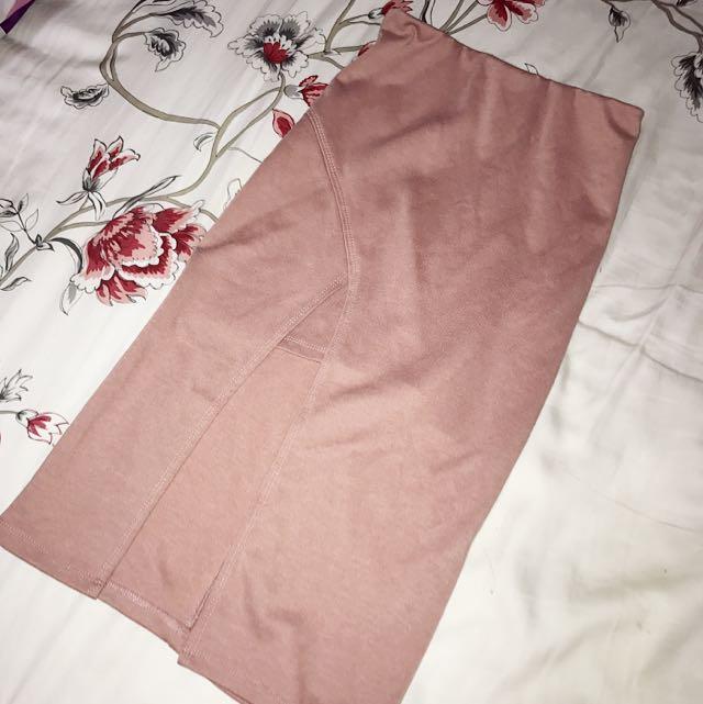 Blush Pencil Skirt
