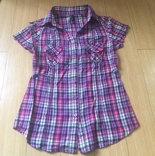 BNY Checkered Polo Shirt