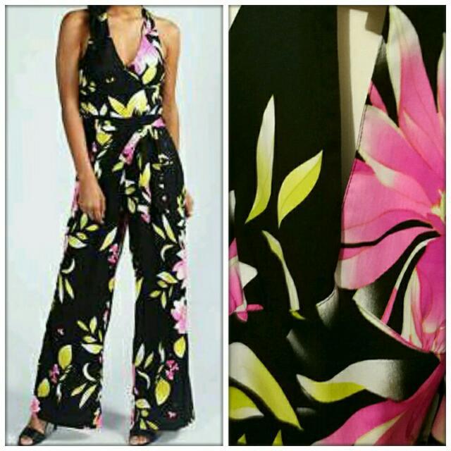 Boohoo Floral Jumpsuit - Size 10/12