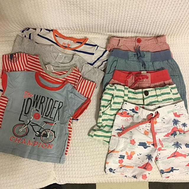 Boys Shorts And Tshirts For 1-2 Year Old