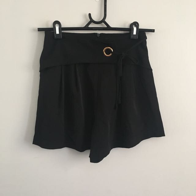 Brand New Black Floaty Shorts