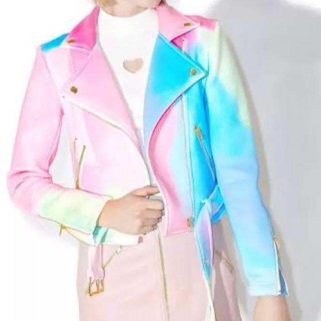 Brand New Sugar pills Watercolour Moto Jacket