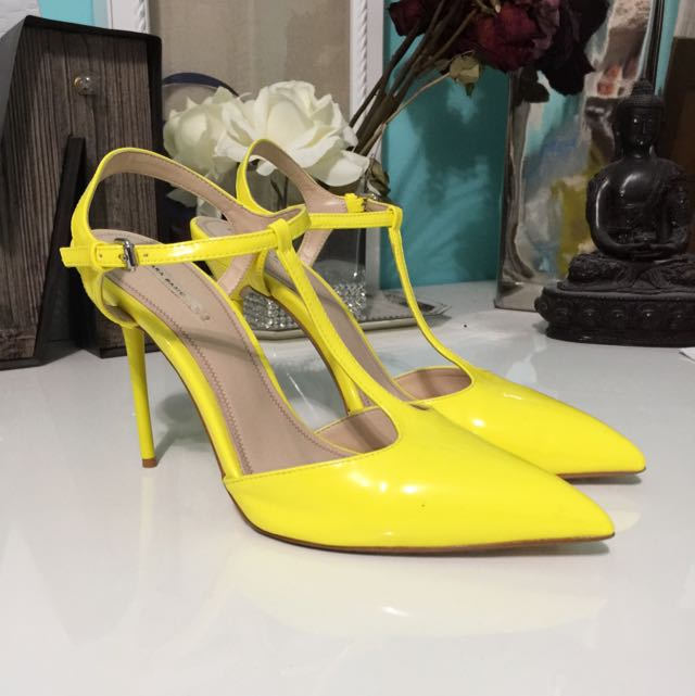 Brand New Zara Patent Leather T-strap Heel
