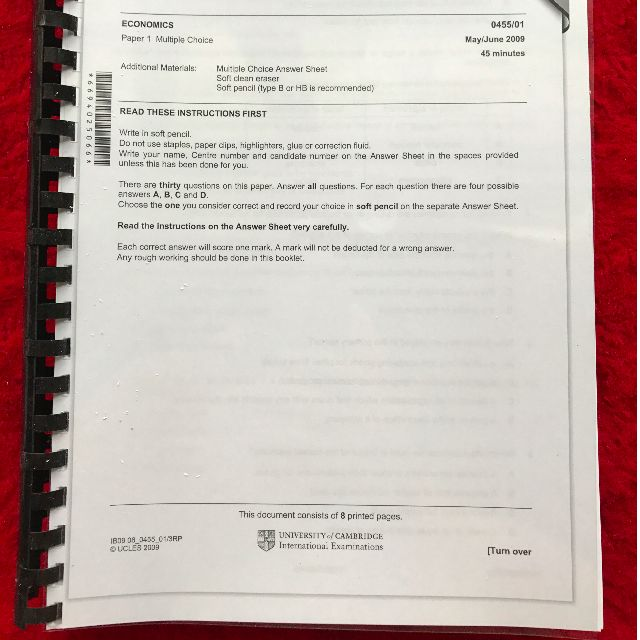 NEW IGCSE Economics Past Year Papers Set (Question Paper + Mark Scheme)