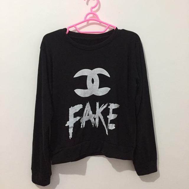 Channel Fake Crop Sweater
